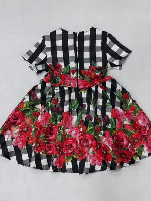 Vestido rodado Est. flores Luluzinha