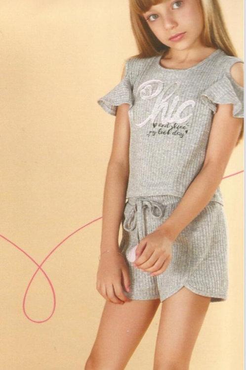 Conjunto blusa e short e Infanti