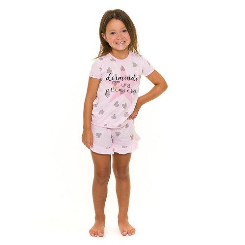 Pijama infantil princesa Evanilda