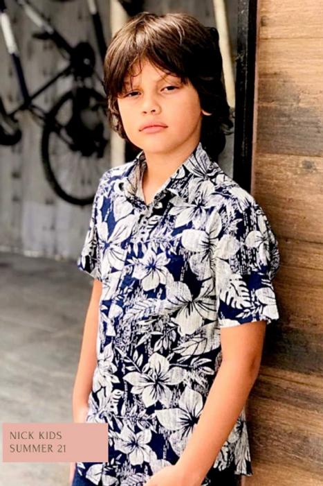 Camisa manga curta Nick Kids