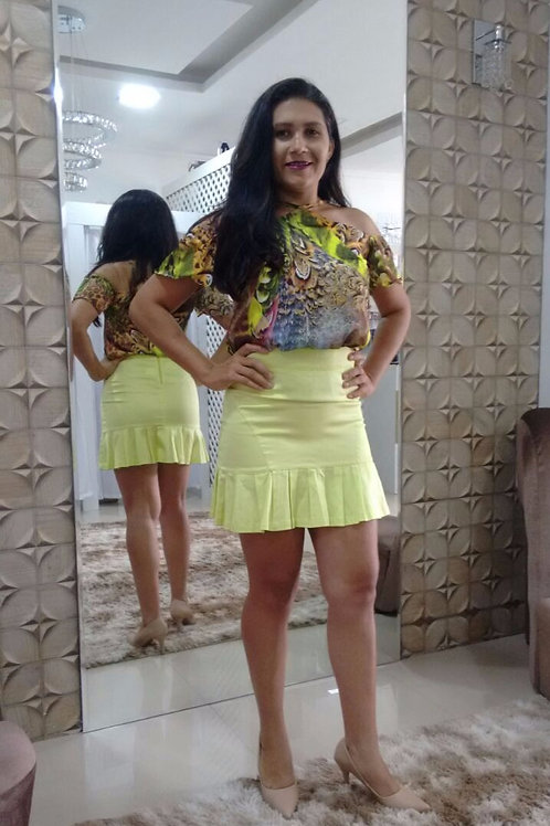 Conjunto Saia e Blusa Dara Luxo Feminino