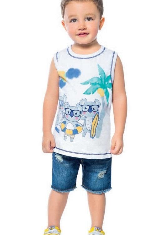 Camisa infantil masculina Abrange