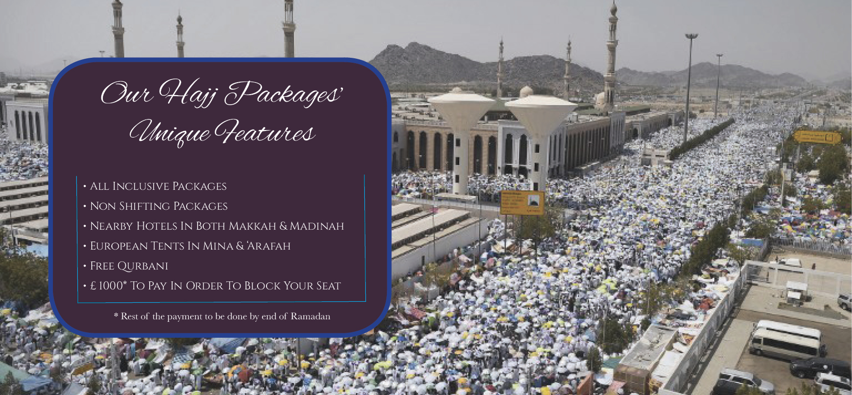 Hajj Packages 2019 | Cheapest Hajj Packages from UK