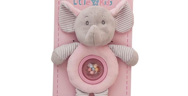 Sonajero Bolita Elefante Rosa 25 cm