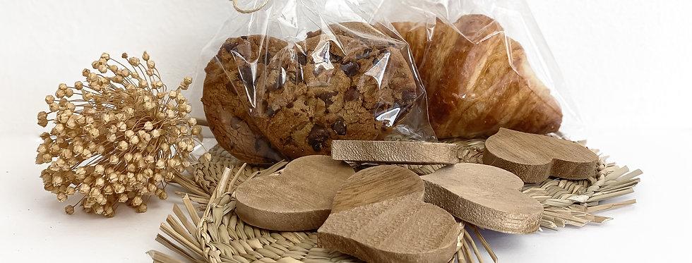 3 Cookies de choco + Mini Croissant Normal