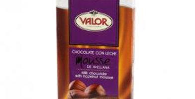 VALOR Chocolate con leche relleno de mousse de avellana