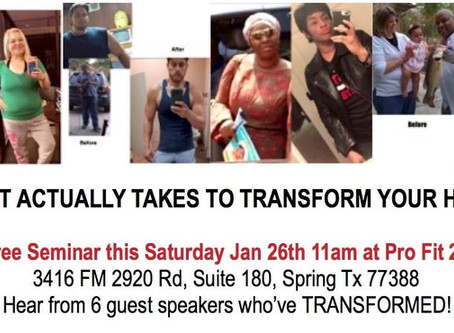 Free Seminar: What it actually takes to Transform Your Health