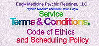 Code of Ethics, Service Terms, Scheduling Policy and Legal Disclaimer