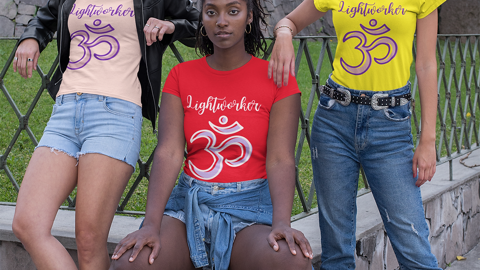 """""""Lightworker"""" Unisex 100% Cotton Tee in 14 Colors & 6 Sizes"""