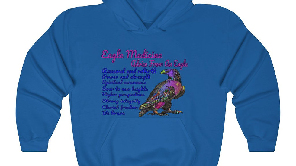 Eagle Medicine - Advice From an Eagle - Unisex Heavy Blend™ Hooded Sweatshirt