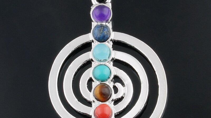 Spiritual Symbol Pendants With 7 Chakra Healing Natural Gemstones - 15 Styles