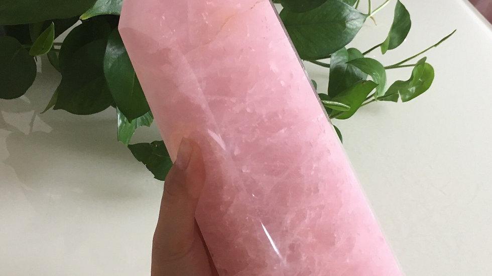 Natural Rose Quartz Stone Of Love HUGE Crystal Towers (500g/700g/1000g)