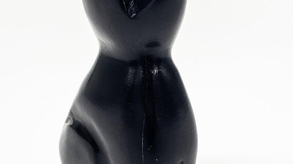 Black Onyx Cat Statue