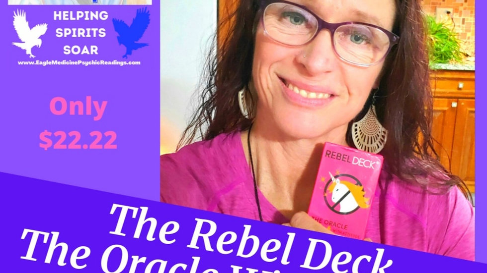 """Rebel Deck """"The Oracle WIth Attitude"""" Zero Filter Tarot /Oracle Deck (60 Cards)"""