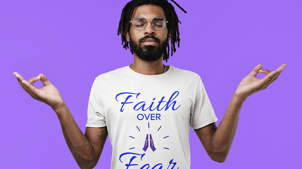 """""""Faith Over Fear""""  Unisex 100% Cotton Tee in 14 Colors and 7 Sizes"""