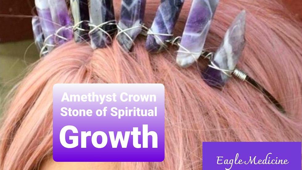 Amethyst Goddess Crown - Awakening, Spiritual Growth,  Purpose & Crown Chakra