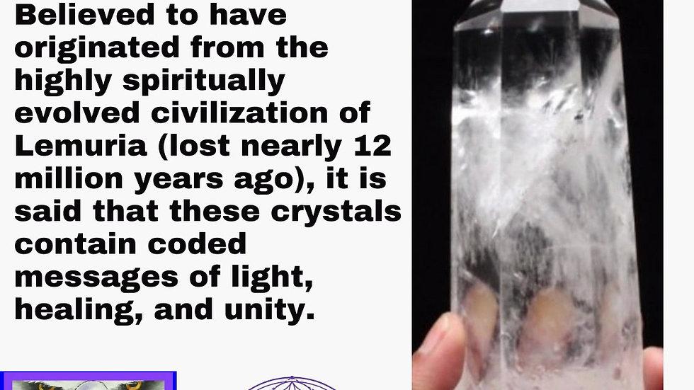 """Lemurian Seed"" Clear Quartz Natural Point Master Healing Crystal"