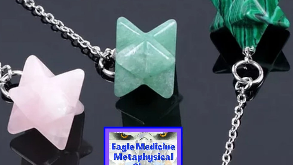 Merkabah Pendulum Natural Gemstone: For Chakras, Reiki, Dowsing & Divination