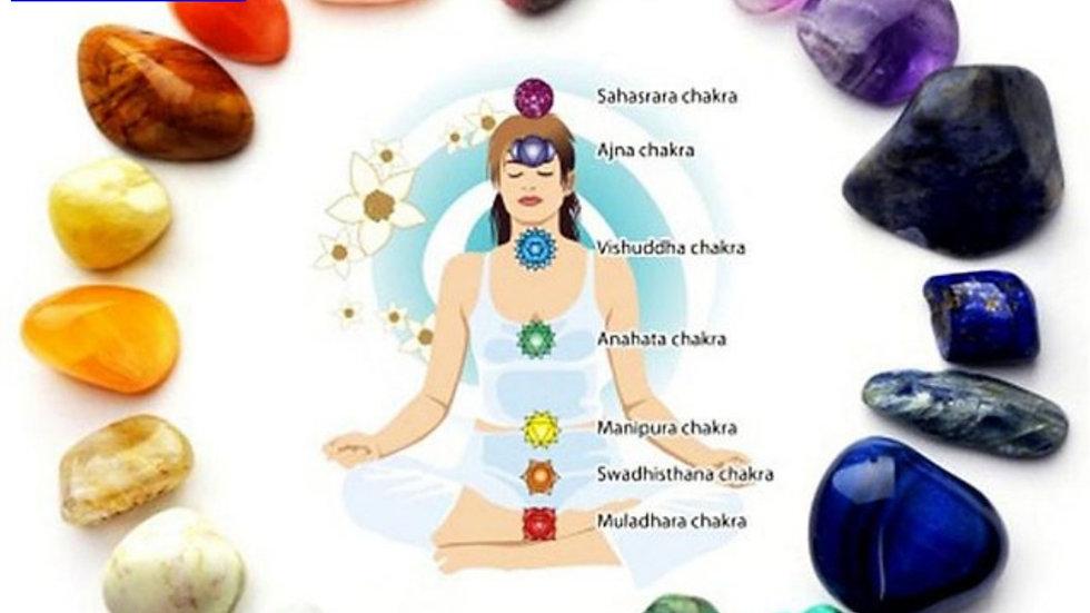 Natural 7 Chakra Set Energy , Yoga and Reiki Healing Authentic Gemstones