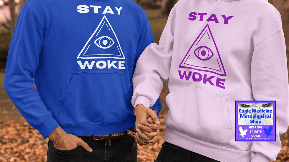 """Stay Woke"" Unisex Heavy Blend™ Hooded Sweatshirt"