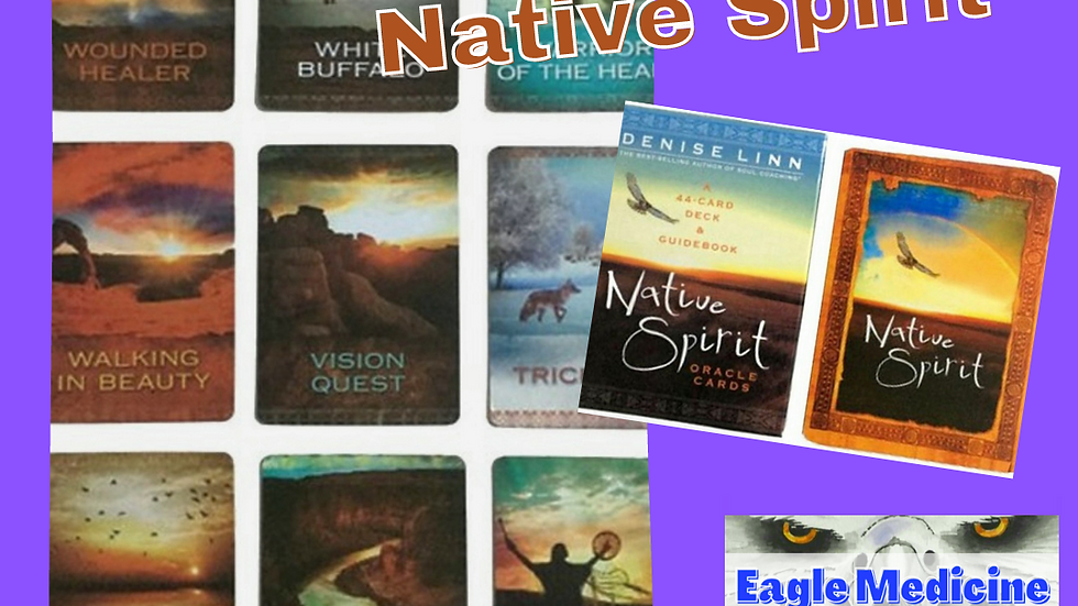 Native Spirit Oracle Card Deck - Strong Symbolism & Art Stimulates Clairvoyance