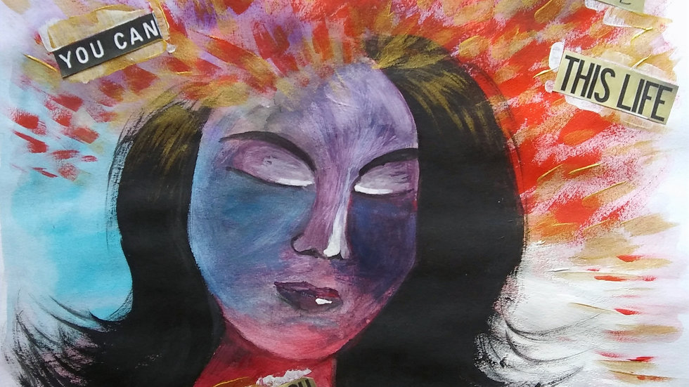 """Avatar of Your Higher Self by Lidia Dale-Mesaros - Custom Painting(11""""x14"""")"""