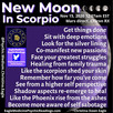 Deep Emotions Revealed - New Moon In Scorpio Energy Report  November 14, 2020