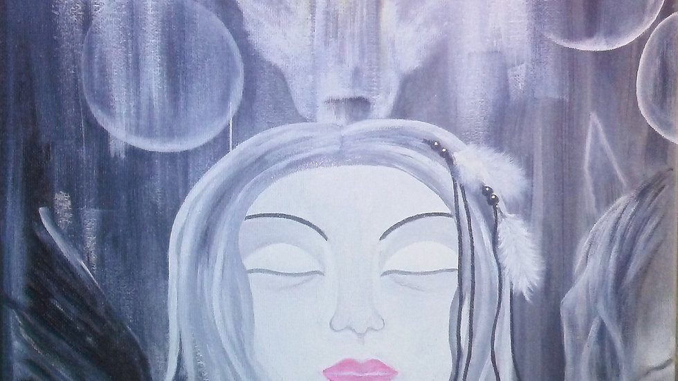 "Custom Energy Painting by Lidia Dale-Mesaros - Acrylic On Canvas (16"" x 20"")"