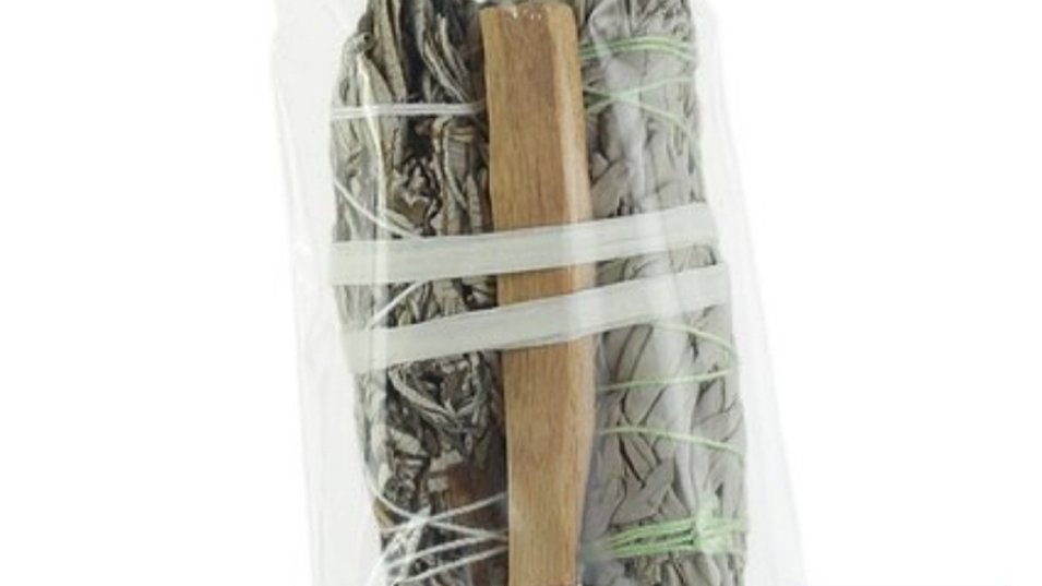 Smudging Kit: Palo Santo, White Sage & Yerba Santa - Sustainably Harvested