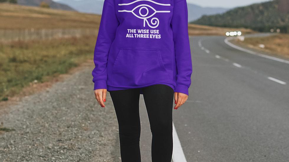 """The Wise Use All Three Eyes"" Eye Of Horus Unisex Heavy Blend™ Hooded Sweatshirt"