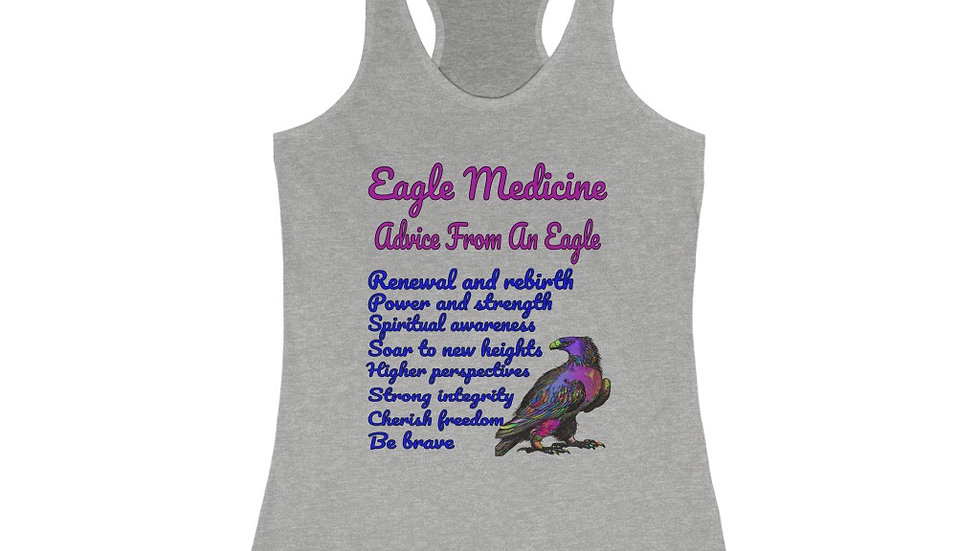 Eagle Medicine - Advice From An Eagle Women's Racerback Tank