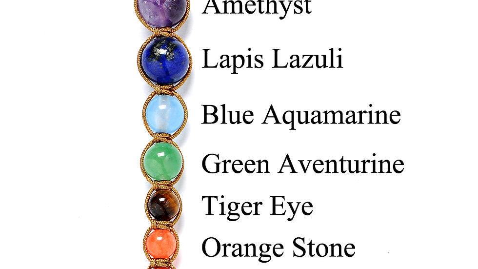 7 Chakra Healing Gemstone Pendant  Necklace-  Reiki & Energy Spiritual Jewelry