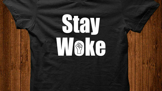 Stay Woke Equality T-Shirt - in Grey, White & Black