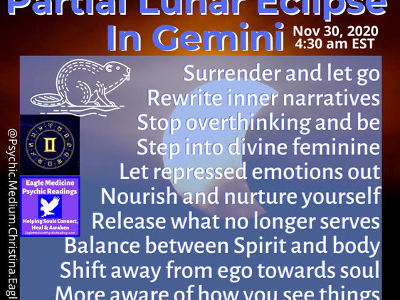 Work on Your Thoughts They Become Things - Full Beaver Moon & Partial Lunar Eclipse in Gemini