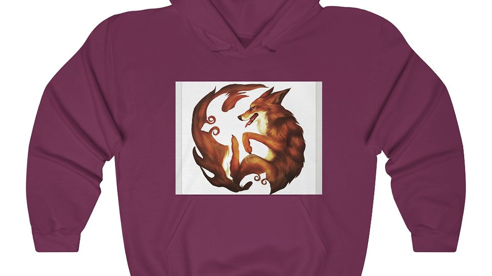 Coyote Spirit - Teacher of Hidden Wisdom Unisex Heavy Blend™ Hooded Sweatshirt