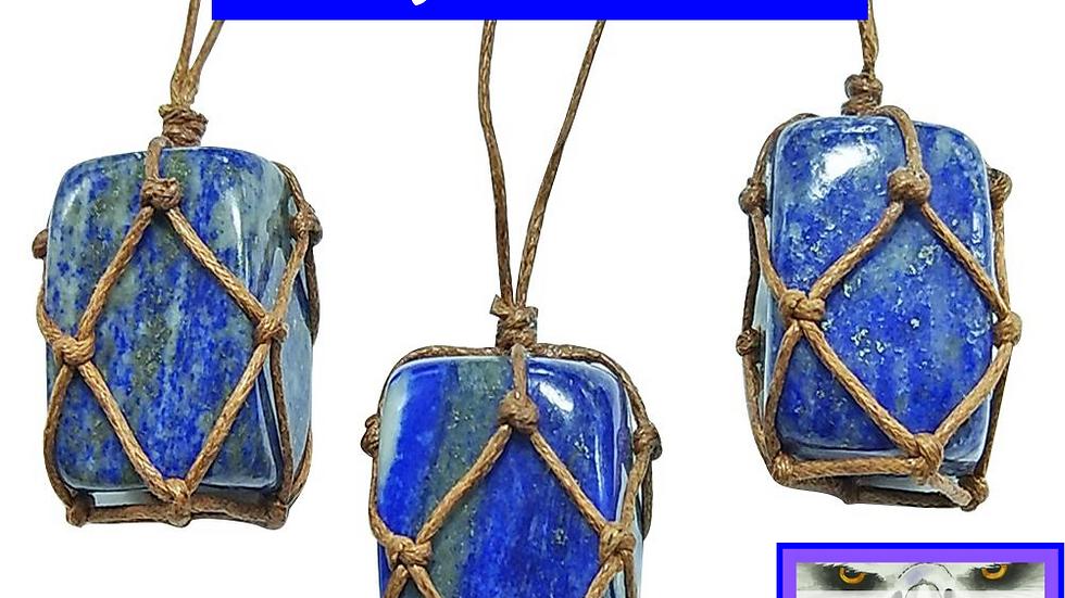 Lapis Lazuli Crystal Pendant - Psychic Clarity and Self Awareness