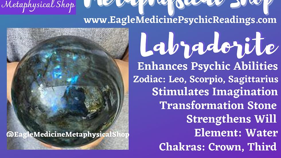 Natural Labradorite Crystal Gemstone Healing Sphere  -Psychic Stone (500-1000g)