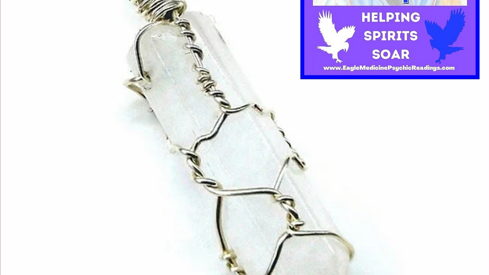 Sterling Silver Hand Wire Wrapped Crystal Pendants - Ships FAST from Montana USA