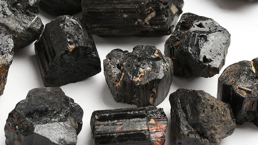 Black Tourmaline For Energy Protection & Grounding 50g Pack