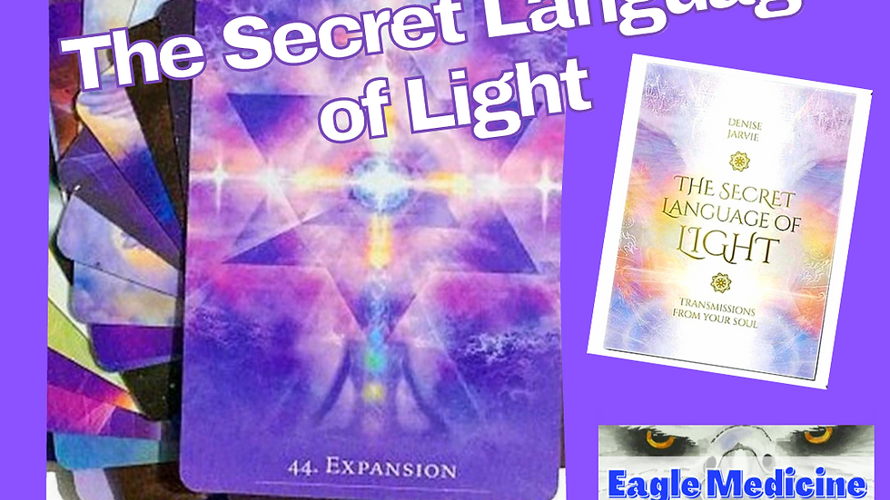 The Secret Language of Light  Oracle Deck - Light Language FAST IN USA SHIPPING