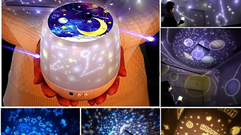 Universe, Stars, Planets&12 Constellations Colorful LED Rotating Light Projector