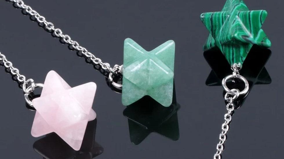 Merkabah Pendulum Natural Gemstone: For Chakras, Reiki, Dowsing & Divination
