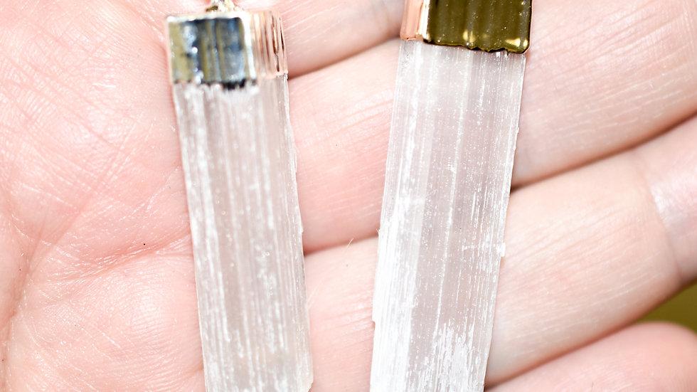 Selenite Pendants - Purification, Cleansing, Meditation & Spiritual Work