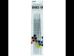 basics-white-nylon-artist-acrylic-brushe