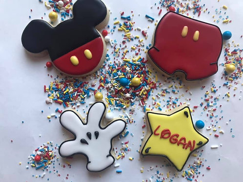 Mickey Inspired Cookie Set
