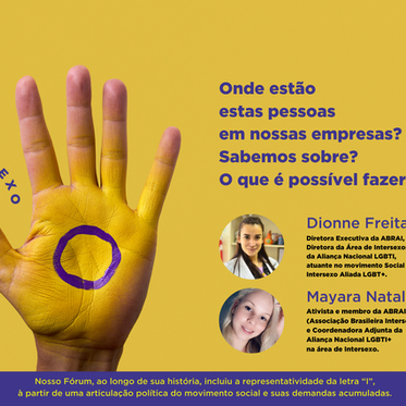 ASSOCIAÇÃO BRASILEIRA INTERSEXO NO FÓRUM DE EMPRESAS E DIREITOS LGBTI+