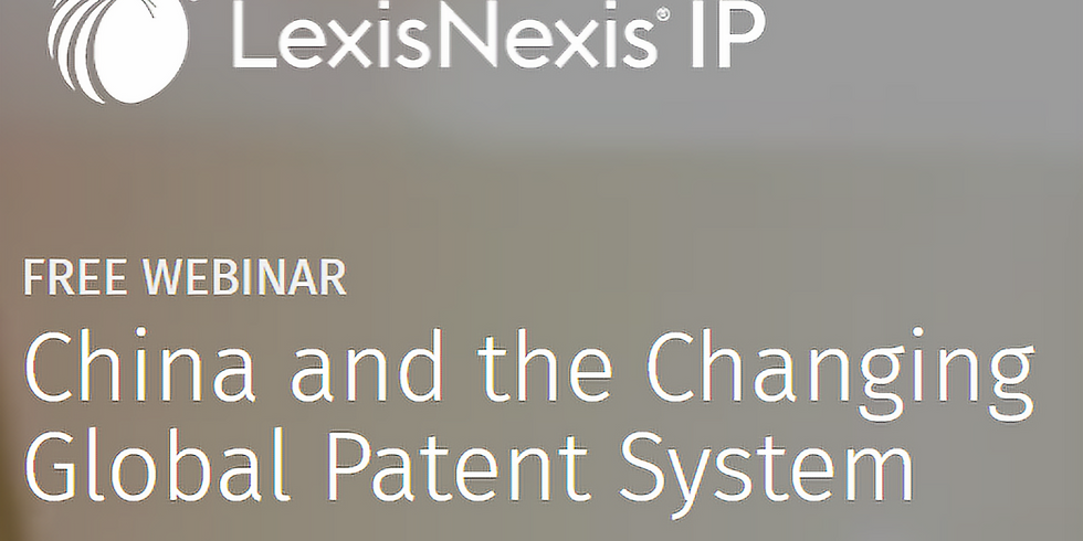 """""""China and the Changing Global Patent System"""""""