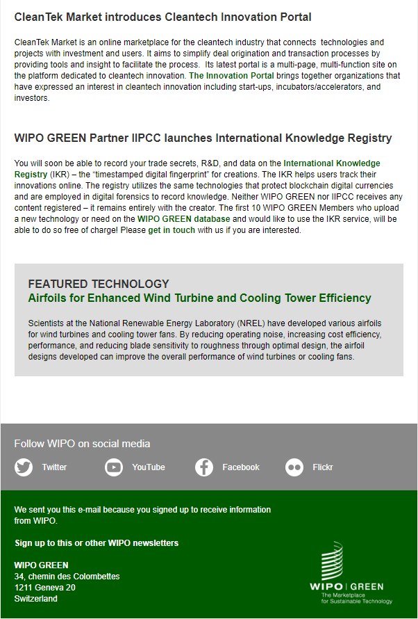WIPO GREEN Partner IIPCC launches International Knowledge Registry