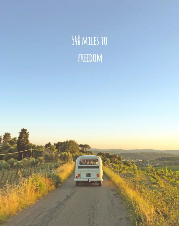 548 miles to freedom