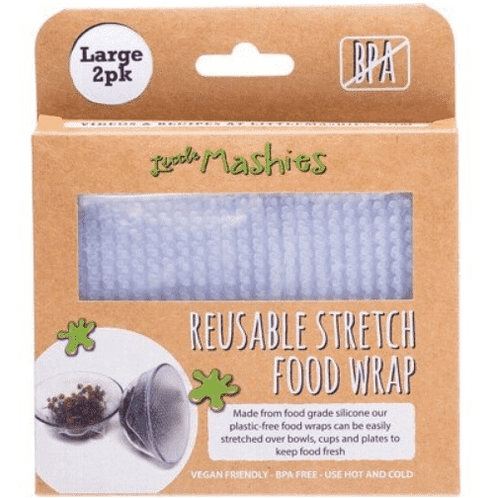 Little Mashies - Reusable Stretch Food Wrap (2 Pack Large)